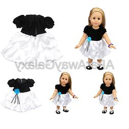 Shero 12 - 16 Inches Baby Doll's Dress Black and White Dress
