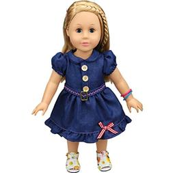 Shero 14 - 16 Inches Baby Doll's Dress Denim Skirt