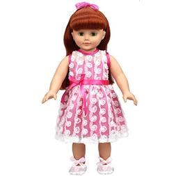 Shero 14 - 16 Inches Baby Doll's Dress Flower Dress with Sho