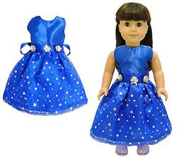 Pink Butterfly Closet Doll Clothes - Beautiful Blue Dress Ou