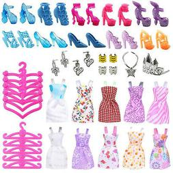 Doll Dresses, Shoes and jewellery Clothes Accessories 50pcs/
