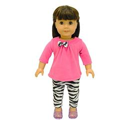 Pink Butterfly Closet Doll Clothes - 2 Piece Clothing Shirt