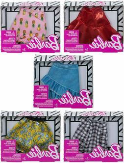 Barbie Doll Fashion Clothing Mini Skirts, 5-Pack Bundle Girl