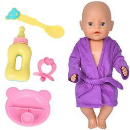 Ebuddy Doll Accessories Feeding Set Include Spoon Plate Nipp