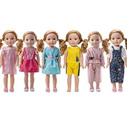 WYHTOYS 6PCS Doll Clothes fits 14 inch 14.5inch Doll America