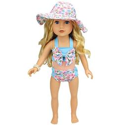 Shero 12-16 Inches Baby Doll's Floral Swimwear 3 pieces set