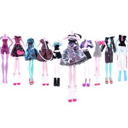 Doll Girl Dress Set Outfit Clothing Handmade For Monster Hig