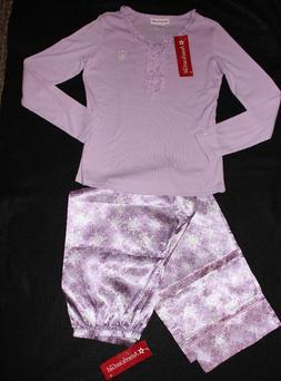 AMERICAN GIRL DOLL girls SNOWFLAKE sleepwear pj PAJAMAS clot
