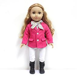 GoldenStar 18 Inch Girl Doll Clothes,Doll Horse Riding Outfi