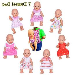 ebuddy Doll Clothes Include 7pc Doll Dress+1pc Backpag for 1