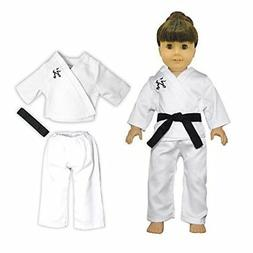 Doll Clothes Karate Costume Outfit Pink Butterfly Closet Fit