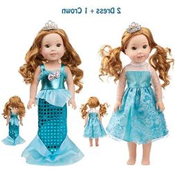 SpiderMarket 14.5 Inch Doll Clothes Accessories for American