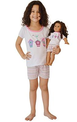 Girl and Doll Matching Outfit Clothes - Shorts and Shirt Set