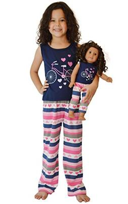 Girl and Doll Matching Outfit Clothes - Tank Top and Sweatpa