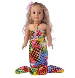 EatingBiting(R) 18 inch Doll Mermaid Set Silvery Shine S