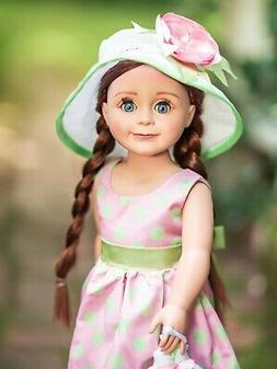 18 inch Doll Clothing Outfit Includes Pink & Green Polka Dot