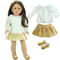 18 Inch Doll Clothing Outfit, 4 Pc Special Occasion Dress Se