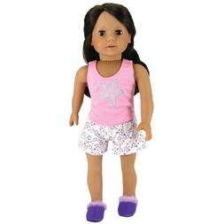 18 Inch Doll Pajamas 2 Pc. Set Fits 18 Inch American Girl Do