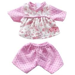 Doll Clothes 3pc Pink Sleepwear Pajamas, AOFUL Loverly Short