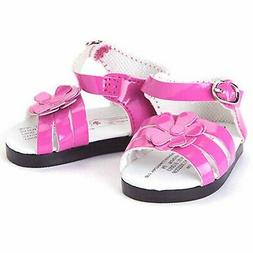 """18"""" Doll Pink Strappy Sandal Shoes +Box Fits American Girl C"""