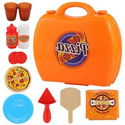 Barwa Doll Play Food Sets Plastic Kitchen Accessories Pizza