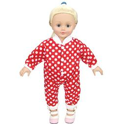 Shero 12-16 Inches Baby Doll's Polka Dot Rompers Red