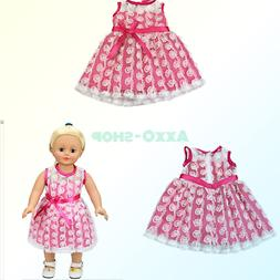 AOFUL Baby Doll Clothes Pretty Dress Fits 16-18  American Gi