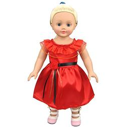Shero 12-16 Inches Baby Doll's Red Evening Dress