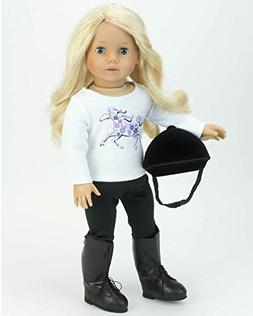 18 Inch Doll 4 Pc. Riding Lesson Outfit Perfect for the Amer