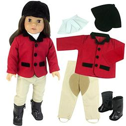 18 Inch Doll Riding Outfit & Black Doll Boots, Doll Clothing