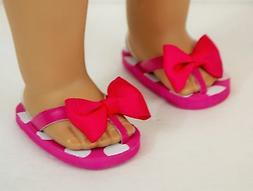 "Doll Sandals For American Girl 18"" Dolls Pink Sandals Access"