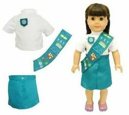 Doll Clothes Junior Girl Scout Pink Butterfly Closet Fits Am