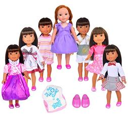 Ebuddy Random Doll Clothes 9pc/Set for 14 inch and 14.5 inch