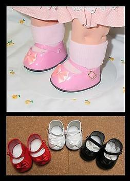 DOLL Shoes RED Patent for Cabbage Patch & Cloth dolls, 87mm