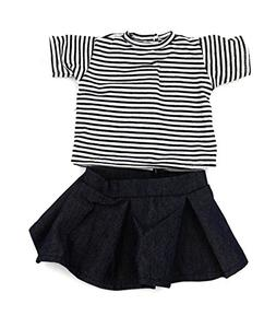 18 Inch Doll Skirt School Outfit Clothes, AOFUL Stripe Short