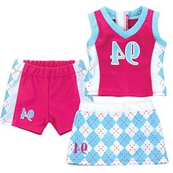 Doll Sports Uniform by Sophia's, 3 Piece Sports Outfit for 1