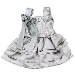 AOFUL Doll Clothes for 18 Inch Dolls Silver dress Fits Ameri