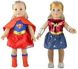 Tatuer Doll Clothes Super Hero Costume+Wonder Woman Outfit f