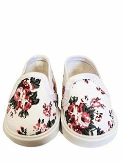 American Doll Floral Tennis Shoes Clothes Compatible 18 in A