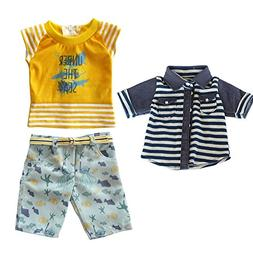 18 inch Baby Boys Doll Clothes Toys,Travel Summer Beach Styl