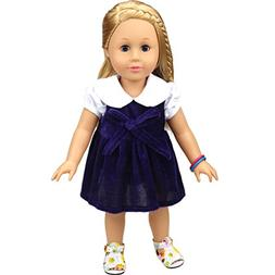 Shero 12 - 16 Inches Doll's Clothes Velvet Dress Fits Americ