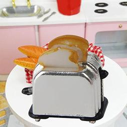 Aland-Dollhouse Miniature Bread Maker Toast Cake Mould Babyr