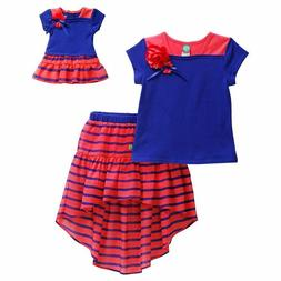 "Dollie Me Sz 7-10 and 18"" doll matching  dress outfit clothe"
