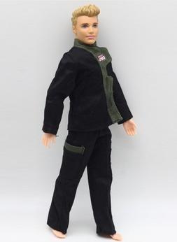 Dolls Cloth Police Cop Combat Uniform Outfit for Ken doll Ba