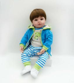 Dolls+Clothes Doll lovely 23'' Handmade Reborn Toddler Silic