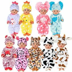 Dolls Clothes Set For 17 Inch Cartoon For Baby Girl Doll Cut