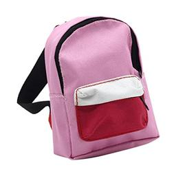 PrettyW Double Straps Backpack Schoolbag for 18'' American G