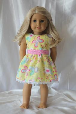 Dress fits 18inch American Girl Doll Clothes Butterfly Summe