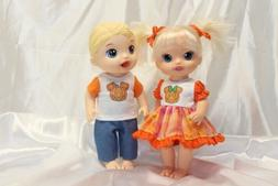 Dress Outfit fits 12 inch Baby Alive Doll Clothes Lot Girl B