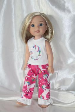 Dress Outfit fits 14inch American Girl Wellie Wishers Doll C
